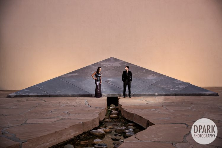 Noguchi Garden and Segerstrom Engagement | Theary + Evan