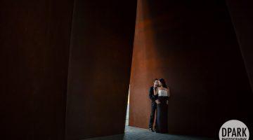 Sneak Peek | Noguchi Garden Engagement | Theary + Evan