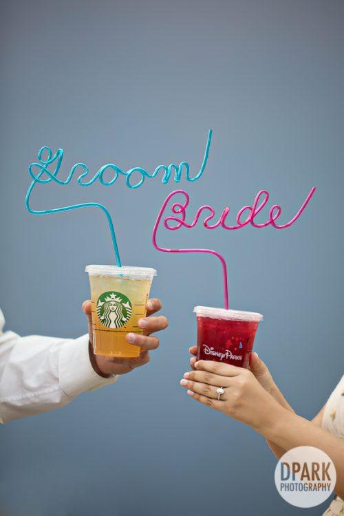 bride-groom-crazy-straw-starbucks-engagement