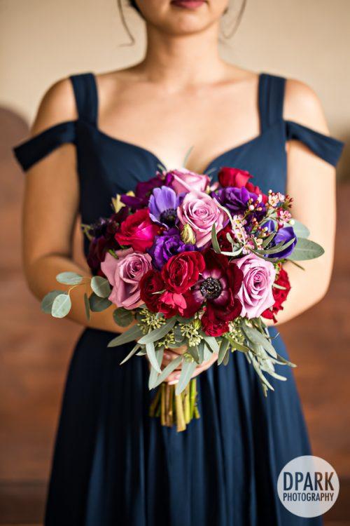 best-blue-red-pink-purple-wedding-bridesmaid-bouquet