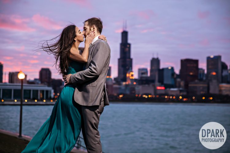 Sneak Peek | Downtown Chicago Love Story | Giancarlo + Tanya