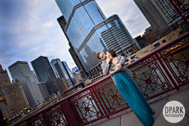 Downtown Chicago Couples Portrait Session | Tanya + Giancarlo