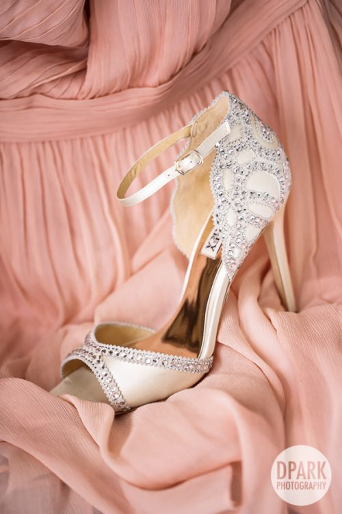 pink-bridesmaids-wedding-badgley-mischka-heels