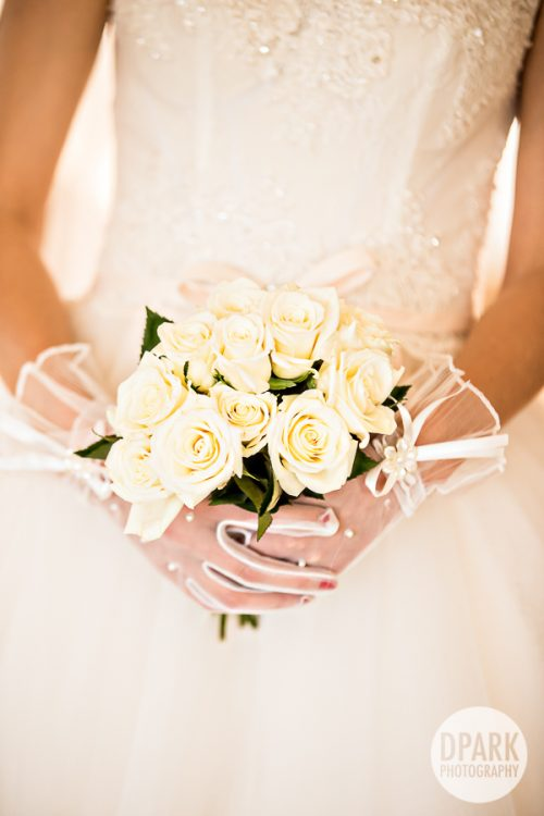 Wedding Day White Rose Bouquet
