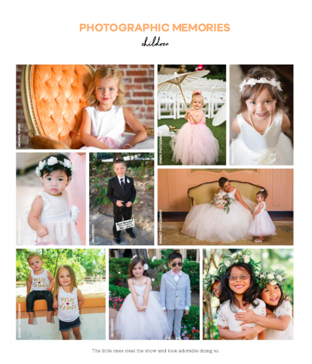 Flower Girls featured in Ceremony Magazine