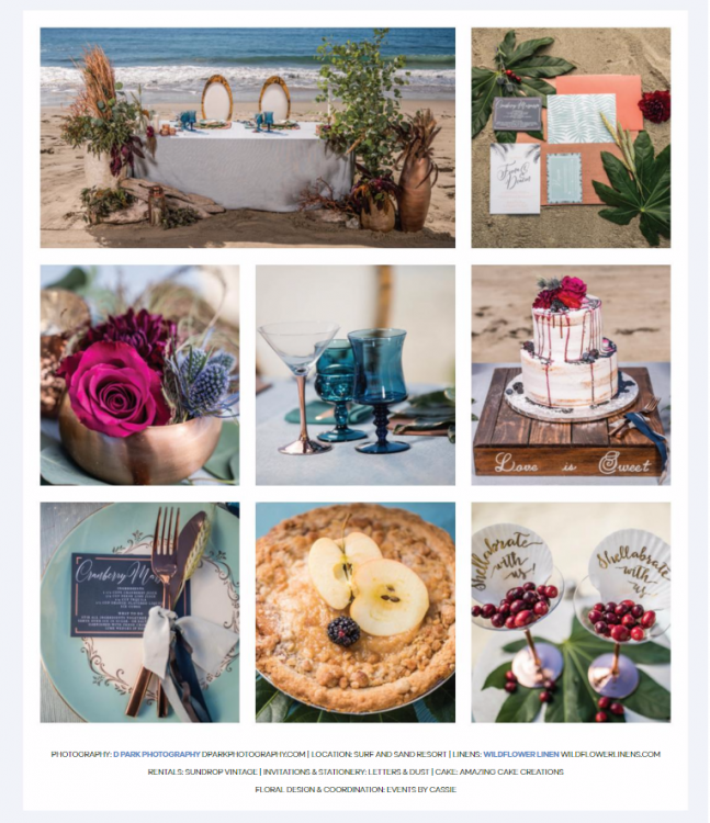 Surf and Sand Resort Stylized Wedding | Events by Cassie featured on Ceremony Magazine