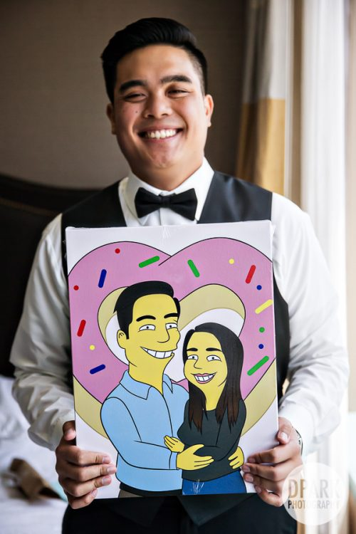 simpsons-wedding-cartoon-bride-groom-gift