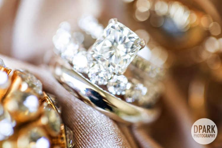 diamond, ring, gold, princess, blush, wedding