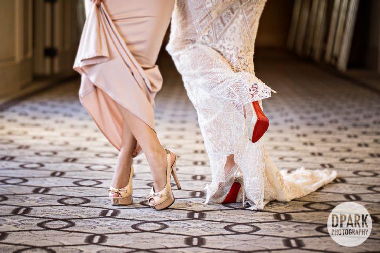 louboutin, fendi, bride, bridal, party, maids, bridesmaids, blush, gold, floral, flowers, bouquet, pink, ideas, inspiration