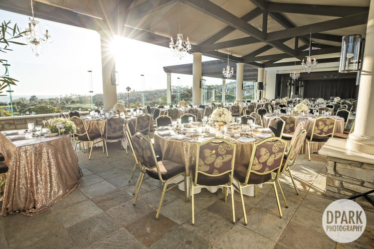 Monarch Beach Resort Club, reception, venue, monarch, beach, resort, details, wedding, tables cape, table, setting, inspiration, ideas, floral, bouquet, centerpiece, gold, blush, ivory, neutral, champagne