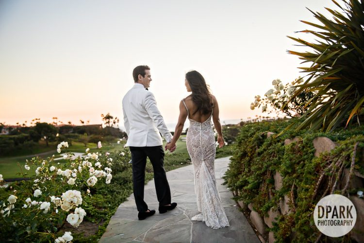 Monarch Beach Resort Club, wedding, bride, groom, photography, photographer, monarch, beach, resort, destination, garden, sunset