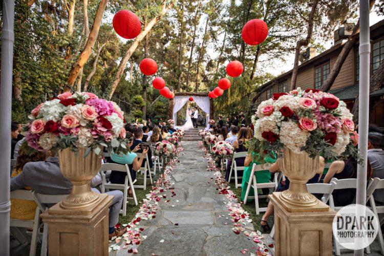 malibu-calamigos-ranch-redwood-room-outdoor-ceremony