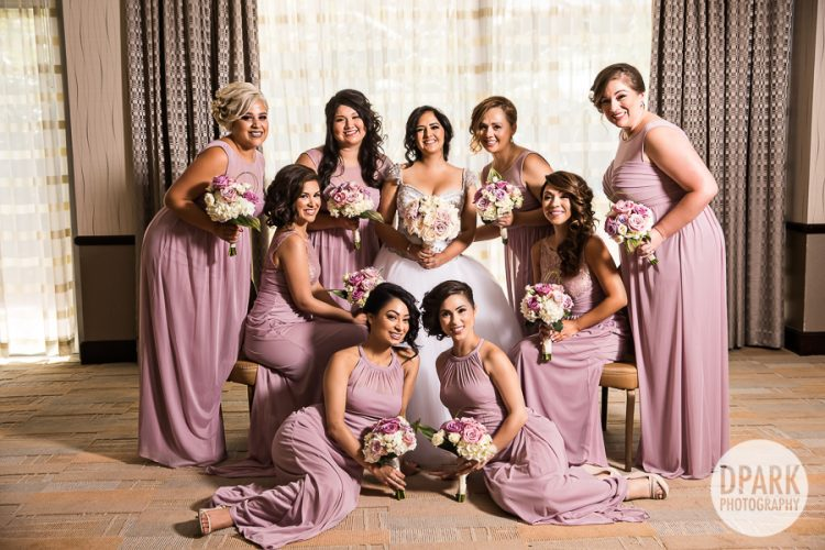 blush-pink-purple-princess-modern-inspired-bridesmaids-attire