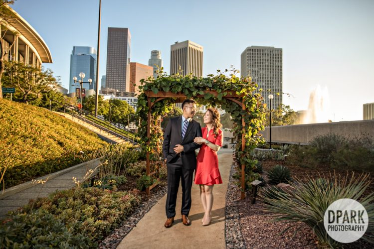 dtla-skyline-korean-engagement-photographer