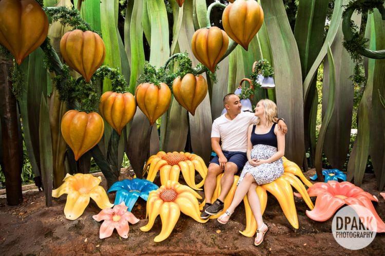 cinderella-small-world-maternity-family-photo