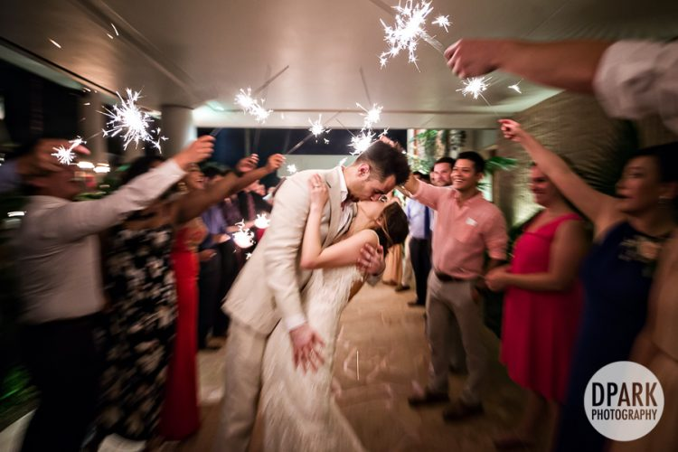 sparkler-grand-exit-hawaiian-wedding
