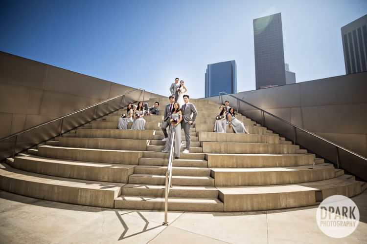 walt-disney-concert-hall-bridal-party-gray-wedding