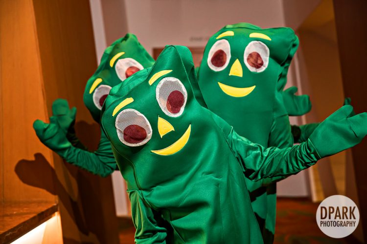 best-funny-wedding-reception-groomsmen-idea-gumby-dance