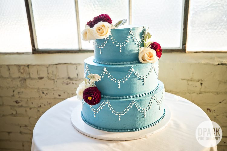 french-blue-cranberry-red-wedding-cake