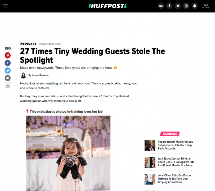 Adorable Wedding Kids Published on Huffington Post