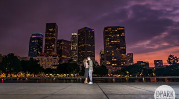 Sneak Peek | Downtown Los Angeles Engagement | Kathleen + Bryan