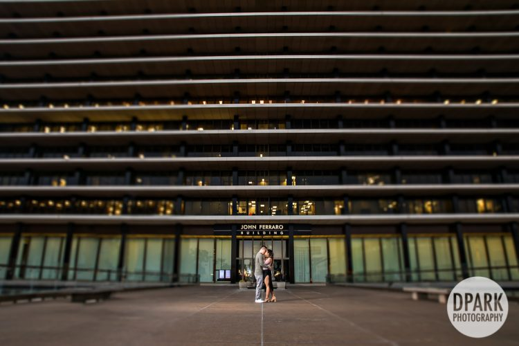 Downtown Los Angeles Engagement | Kathleen + Bryan