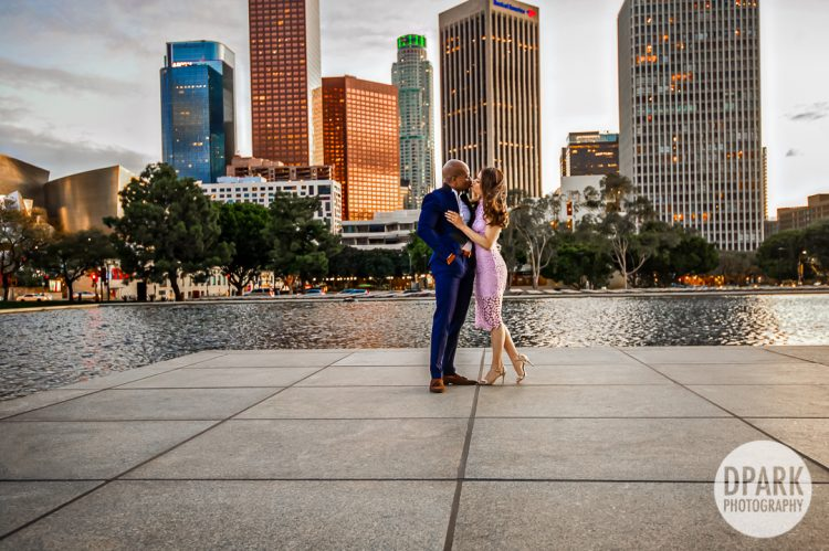 Sneak Peek | Downtown Los Angeles Engagement | Yessenia + Adebayo
