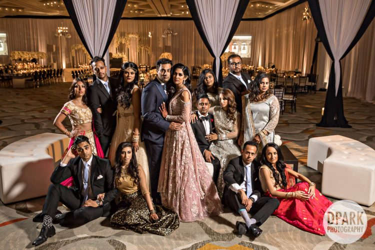 best-luxury-indian-wedding-white-reception-bridal-party