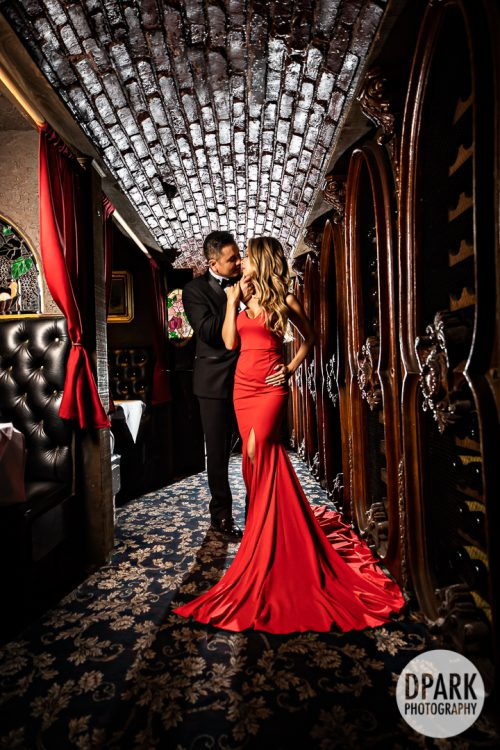 the-cellar-restaurant-red-gown-engagement