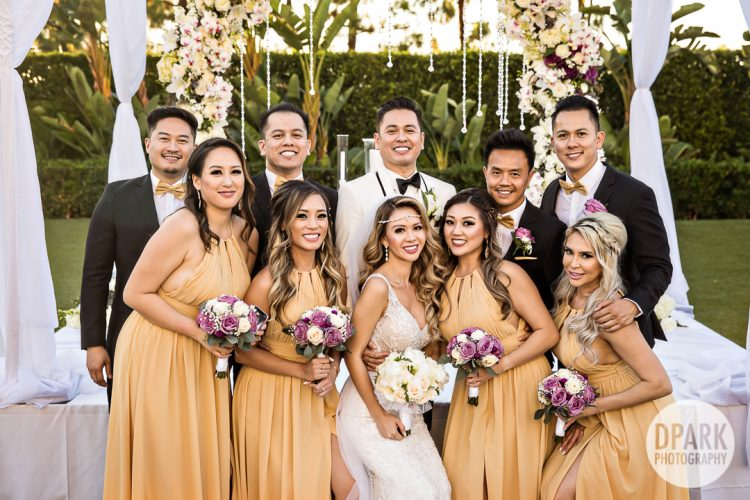 hotel-irvine-luxury-vietnamese-wedding-ceremony-bridal-party