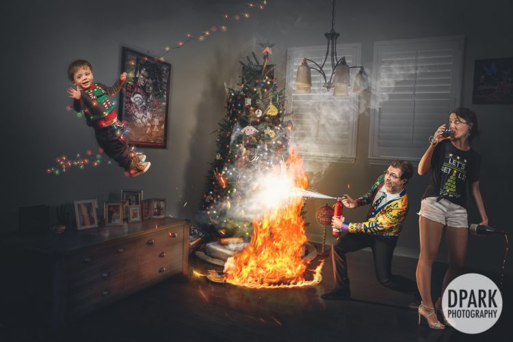 Hilarious Christmas Hanukkah Family Photoshoot