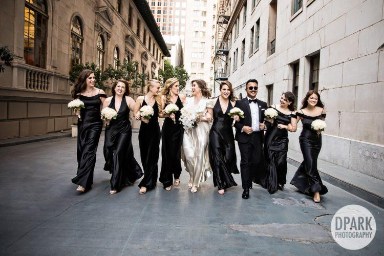millennium-biltmore-hotel-los-angeles-wedding-bridal-party