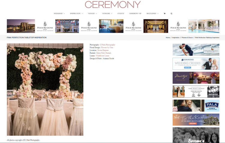 Published on Ceremony Magazine | Pink Perfection