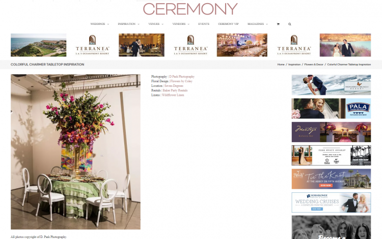 Published on Ceremony Magazine | Colorful Charmer