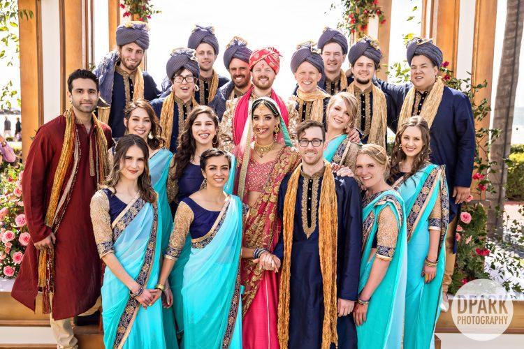 hotel-del-coronado-indian-wedding-bridal-party-photos